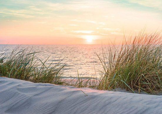 CONSALNET Fototapete »Sonnenuntergang Strand«, Papier, in verschiedenen Größen