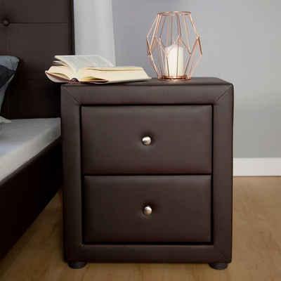 Homestyle4u Nachttisch »Nachttisch Schlafzimmer braun Beistelltisch«