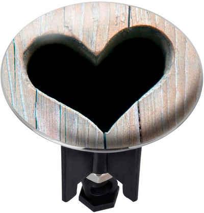 WENKO Waschbeckenstöpsel »Heart«, PLUGGY XL