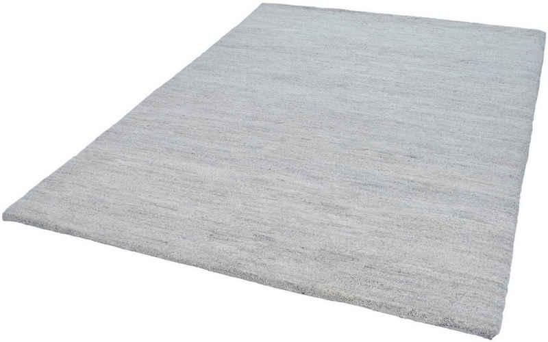 Wollteppich »Hadj Uni«, THEKO, rechteckig, Höhe 25 mm, echter Berber, reine Wolle, handgeknüpft, Wohnzimmer
