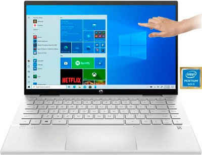 HP Pavilion x360 Convertible 14-dy0210ng Notebook (35,6 cm/14 Zoll, Intel Pentium Gold, UHD Graphics, 256 GB SSD)