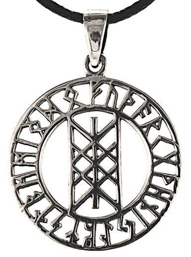 Kiss of Leather Kettenanhänger »Web of Wyrd 925 Sterling Silber Gewebe des Schicksals drei Nornen«