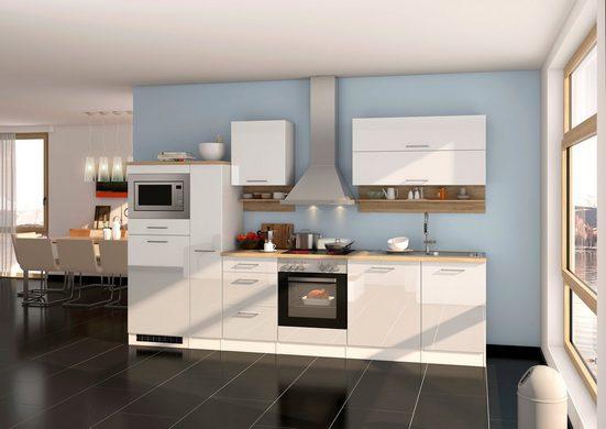 HELD MÖBEL Komplett-Set: Küchenzeile »Mailand«, mit E-Geräten, Breite 310cm