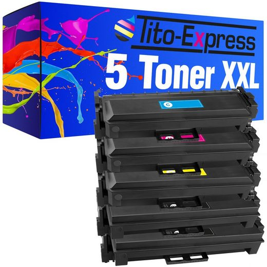Tito-Express PlatinumSerie Tonerpatrone »5er Set ersetzt HP CF410X CF411X CF412X CF413X 410X«