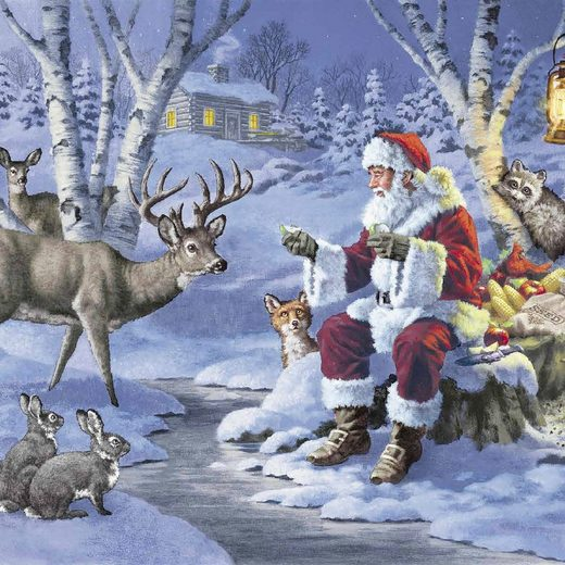 Paper+Design Papierserviette »Weihnachten im Wald«, 33 cm x 33 cm