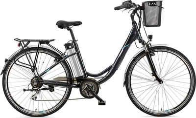 Telefunken E-Bike »Multitalent RC860«, 7 Gang Shimano Acera Schaltwerk, Kettenschaltung, Mittelmotor 250 W, mit Fahrradkorb