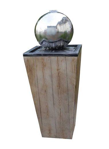 Kiom Dekoobjekt »Gartenbrunnen FoLegno Led 83cm«