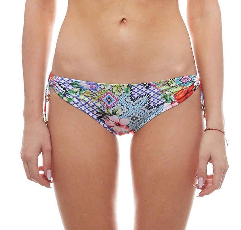 WATERCULT Badehose »watercult Bikinihose im Ethno Look lässige Damen Badehose Bademode Blau«