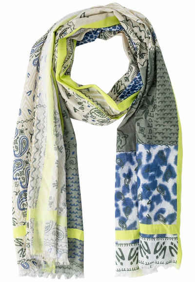 camel active Modeschal »Schal aus Baumwolle mit Fransen« Schal_Modeschal