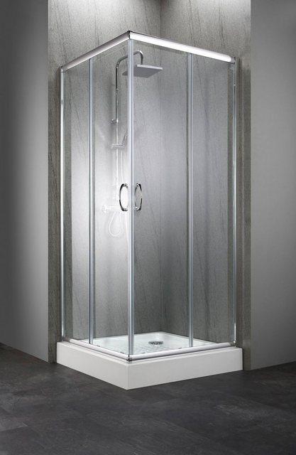 Duschen und Zubehör - welltime Eckdusche »Summer«, BxT 80x80 cm, Sicherheitsglas, mit großem Verstellbereich  - Onlineshop OTTO
