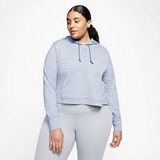 Nike Kapuzensweatshirt »YOGA JERSEY CROP HOODIE PLUS SIZE« In großen Größen