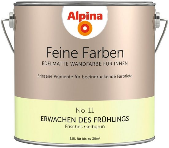ALPINA Farbe »Alpina Feine Farben Erwachen des Frühlings«, 2,5 l