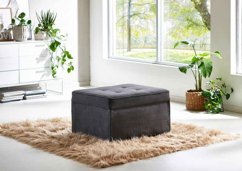 ATLANTIC home collection Schlafhocker wandelbar zum Loungesessel, Relaxliege oder Gästebett