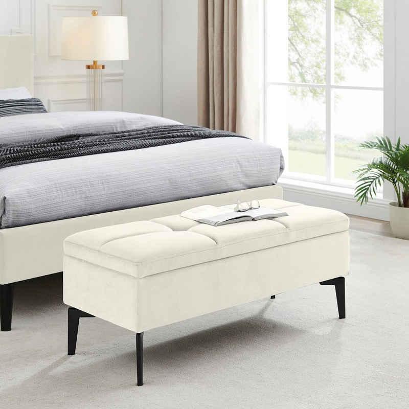 INOSIGN Bettbank »Galina«, Sitzfläche gesteppt, mit Strauraum