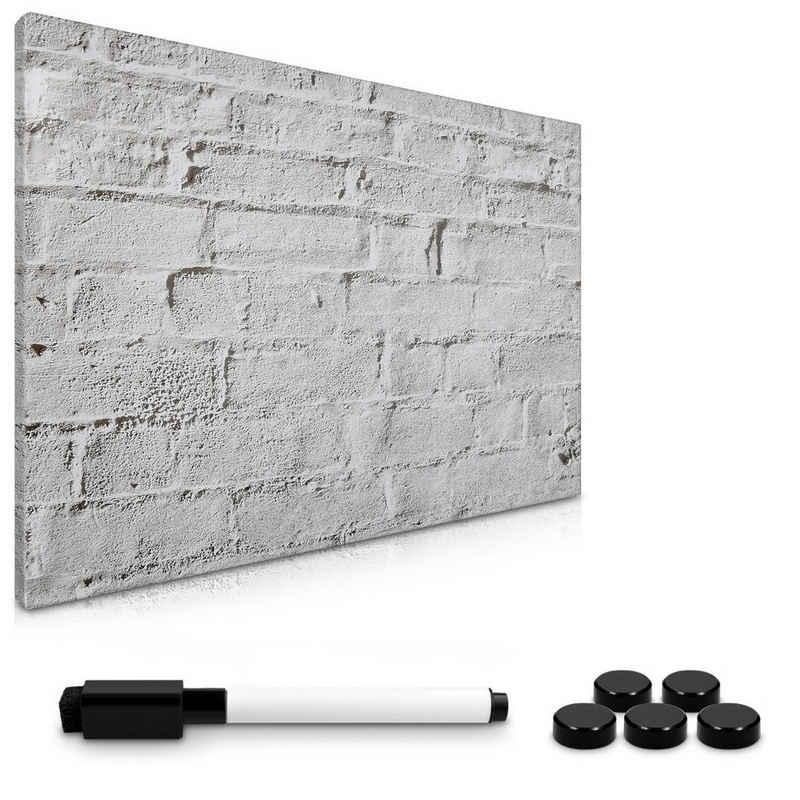 Navaris Memoboard, Magnetpinnwand Memoboard zum Beschriften - 60x40 cm Notiztafel - Tafel abwaschbar mit Halterung Magneten Stift