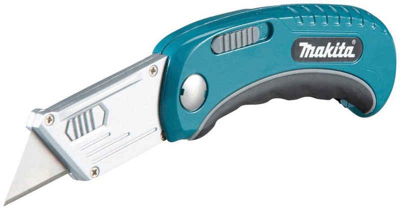 Makita Cutter »B-65501«, Sicherheits-Klappmesser mit gummierten Soft-Griff