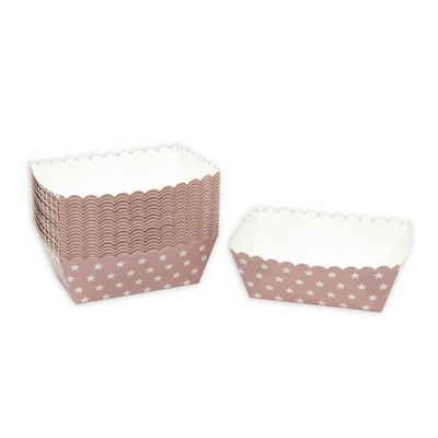 Frau WUNDERVoll Muffinform »Kuchen Backformen 24 Stück, rosa weiße Sterne /«, (25-tlg)