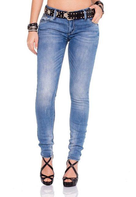 Hosen - Cipo Baxx Bequeme Jeans mit passendem Gürtel › schwarz  - Onlineshop OTTO