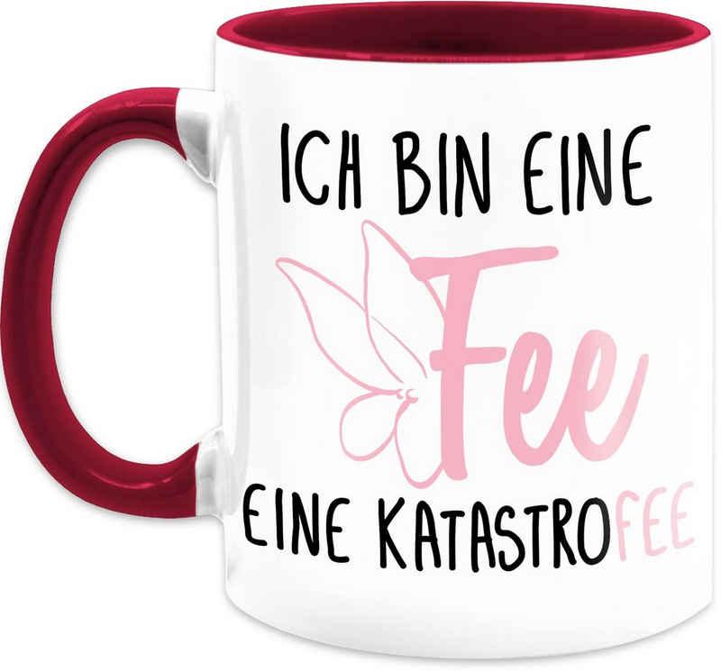 Shirtracer Tasse »Ich bin eine Fee - Kaffeetasse mit Spruch - Tasse zweifarbig«, Keramik, Statement Teetasse