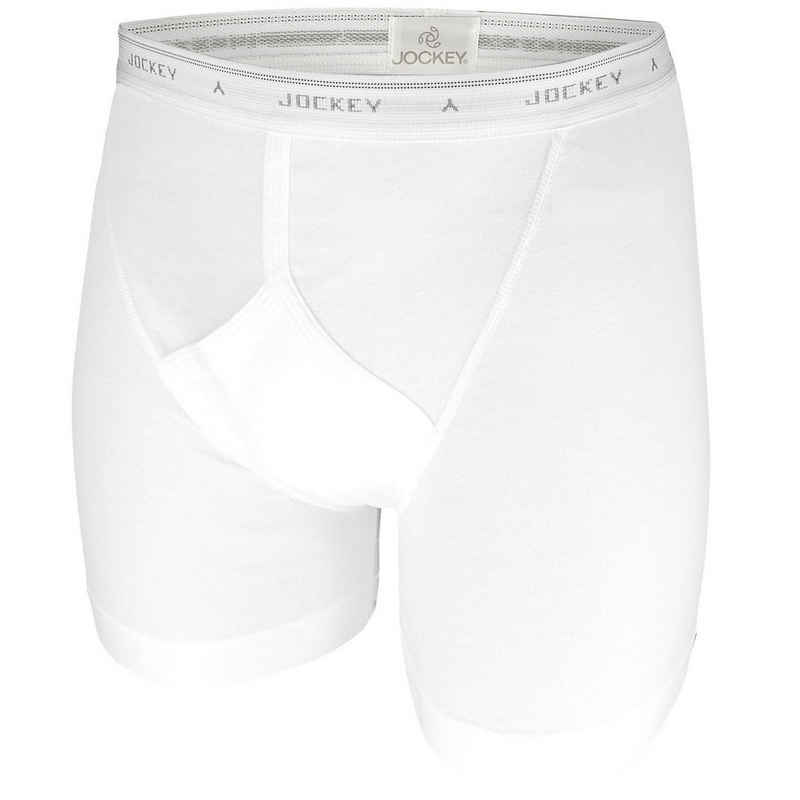 Jockey Boxershorts (2 Stück) Jockey Herren Boxershorts mit längerem Bein im 2er Pack