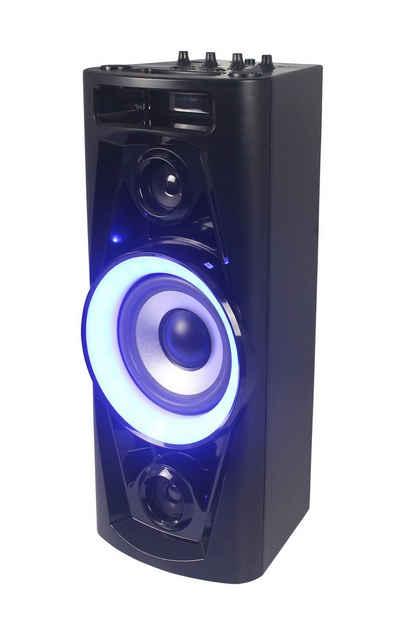 Reflexion Reflexion PS07BT Mobile Discosoundmaschine (320 Watt) mit Bluetooth, True Wireless Stereo, Radio, USB, AUX-IN, Karaokefunktion und Akku Party-Lautsprecher (Bluetooth, 320 W, True Wireless Stereo)