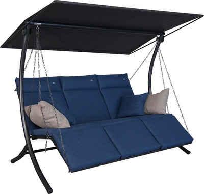 Angerer Freizeitmöbel Hollywoodschaukel »Swing Smart denim«, 3-Sitzer, Bettfunktion