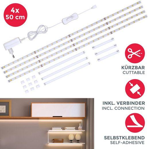 B.K.Licht LED-Streifen »Lacerta«, 112-flammig, 2m LED Band Set 4 Streifen Unterbauleuchte inkl. Verbinder
