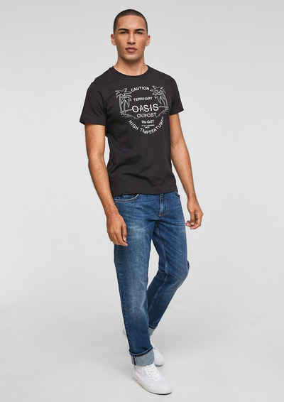 s.Oliver Kurzarmshirt »Jerseyshirt mit Schriftprint« (1-tlg)
