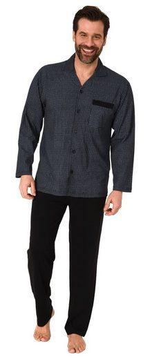 Normann Pyjama »Herren Pyjama Schlafanzug langarm zum durchknöpfen in edler Optik - 112 101 90 512«