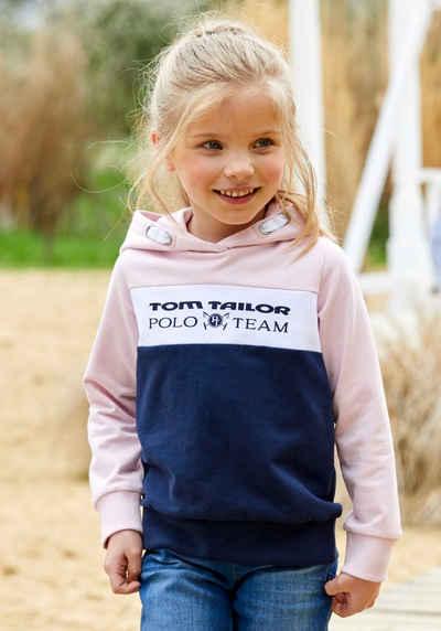 TOM TAILOR Polo Team Kapuzensweatshirt mit farblichen Einsätzen