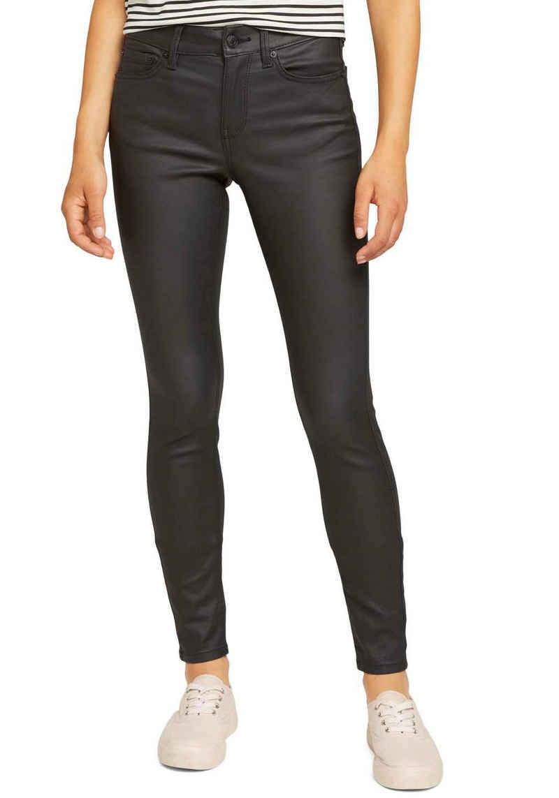 TOM TAILOR Denim Skinny-fit-Jeans »Nela« in leicht glänzender Optik