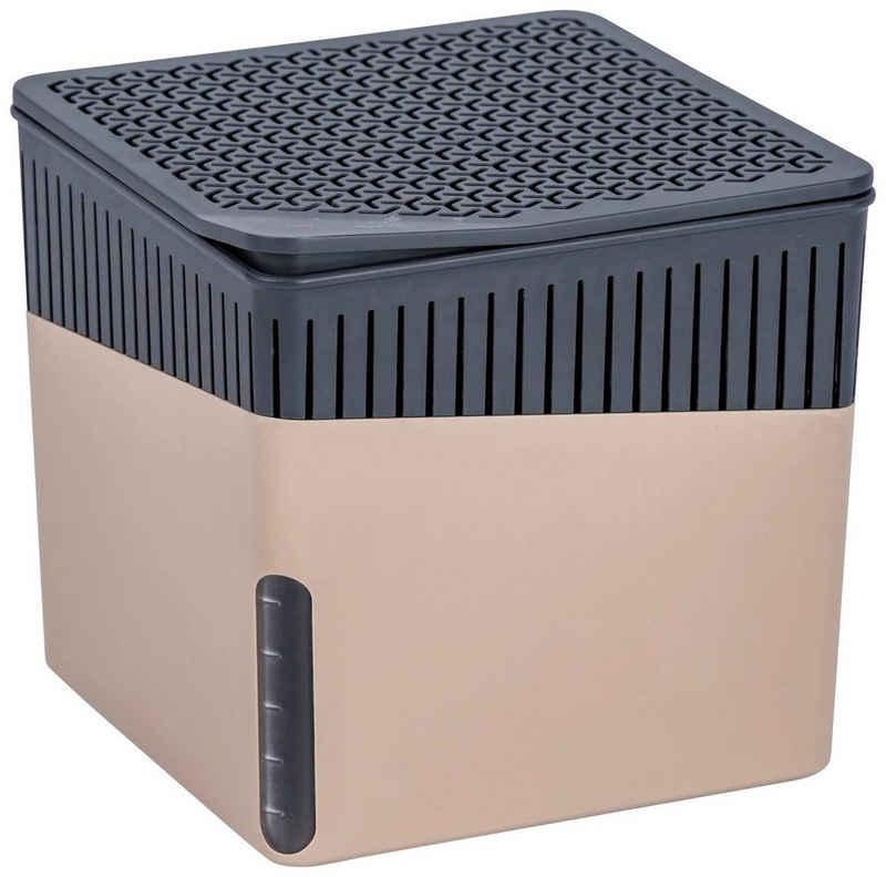 WENKO Luftentfeuchter Cube Beige, für 80 m³ Räume