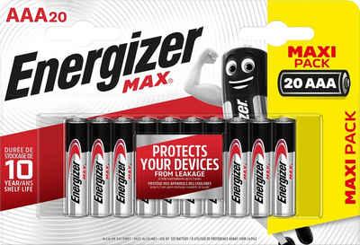 Energizer »MAX AAA 20er Pack« Batterie, (20 St)