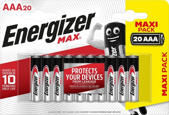 Energizer »MAX AAA 20er Pack« Batterie, (20 St)