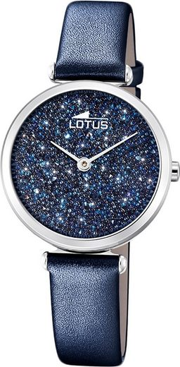 Lotus Quarzuhr »D2UL18607/2 LOTUS Leder Damen Uhr 18607/2 Armbandu«, (Quarzuhr), Damenuhr mit Lederarmband, rundes Gehäuse, klein (ca. 29mm), Fashion-Style