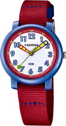 CALYPSO WATCHES Quarzuhr »UK5811/4 Calypso Kinder Quarz Uhr Analog Casual«, (Analoguhr), Kinderuhr rund, mittel (ca. 32mm), Textilarmband, Casual-Style