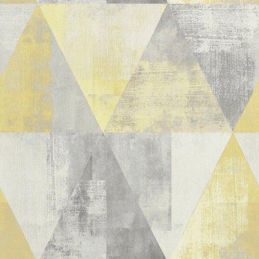 Rasch Vinyltapete »Hyde Park«, geprägt, gemustert, grafisch, (1 St)