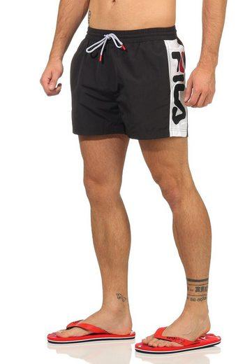 Fila Shorts »Fila Badehose Herren SAFI SWIM SHORTS 687205 E09 Black/Bright White«