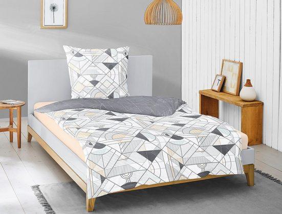 Wendebettwäsche »Palma 8174«, Irisette, mit modernem grafischen Design