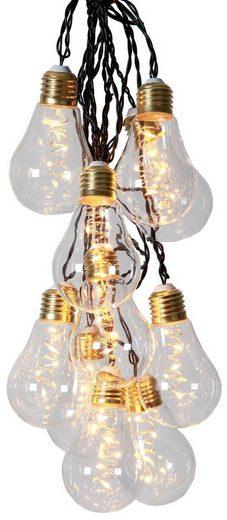 """STAR TRADING LED-Lichterkette »LED Party Lichterkette """"Glow"""" - 10x 5 warmweiße LED Glühbirnen - L: 3,6m - Indoor - transparent«, 10-flammig"""