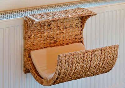 SILVIO design Katzenliege »Heizkörperliege Wasserhyazinthe«, BxLxH: 39x35x35 cm