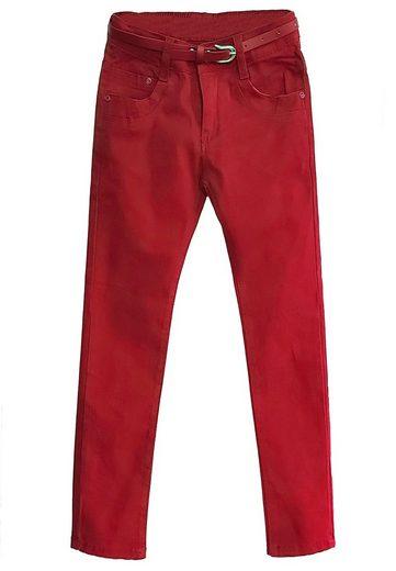 Family Trends Bequeme Jeans mit passendem Gürtel