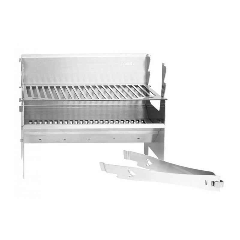 FENNEK Holzkohlegrill »FENNEK 2.0 - Outdoor Grill - 100% Edelstahl - zerlegbar - Grillfläche 37,6 x 24,3cm«