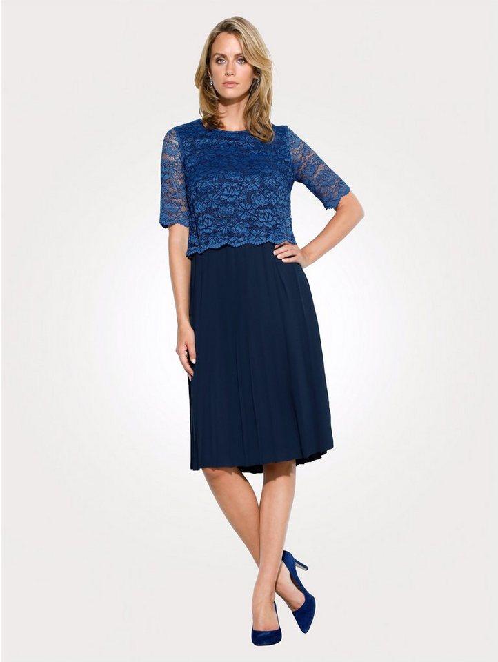 Festtagsmode - Mona Kleid mit Spitzenoberteil › blau  - Onlineshop OTTO