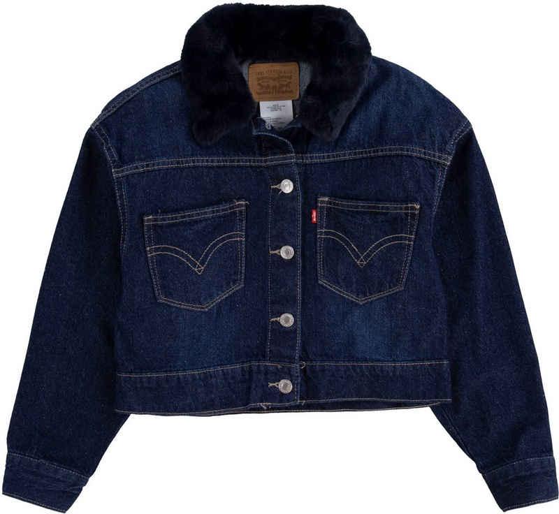 Levi's Kidswear Jeansjacke »OVERSIZED TRUCKER« mit Puschelkragen