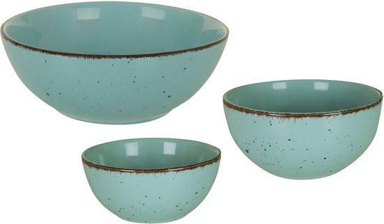 ARTE VIVA Schüssel »Puro«, Steinzeug, (Set, 3-tlg), Ø 11, 14, und 21 cm, vom Sternekoch Thomas Wohlfarter empfohlen