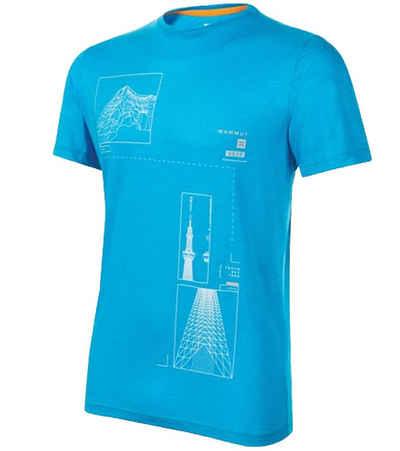 Mammut T-Shirt »Mammut Skytree Sommer-Shirt cooles Herren Alltags-T-Shirt Kurzarm-Shirt Blau/Weiß«