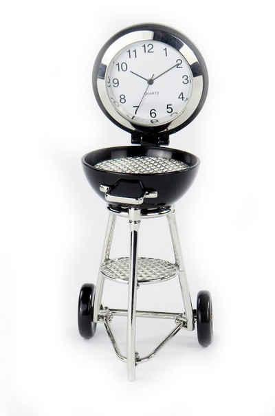 Siva Standuhr »Siva Clock Grill schwarz Quarzuhr aus Metall im« (Set)
