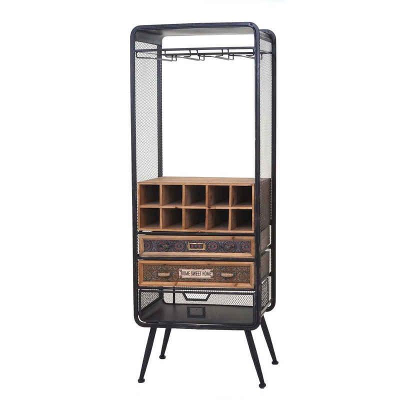 MCW Weinregal »MCW-C91«, Aufhängung für Gläser, 3 Schubladen, Für 10 Flaschen geeignet, Geräumige Ablagefläche