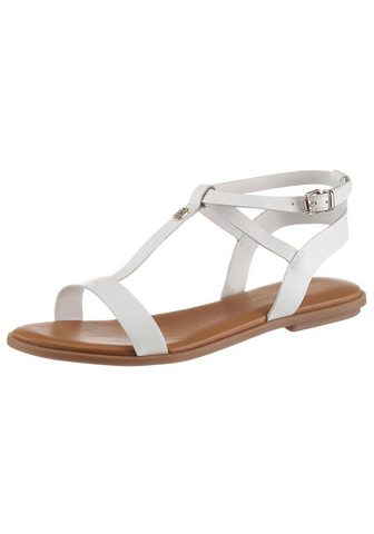 TOMMY HILFIGER »REMININE LEATHER FLAT SANDAL« Riemche...